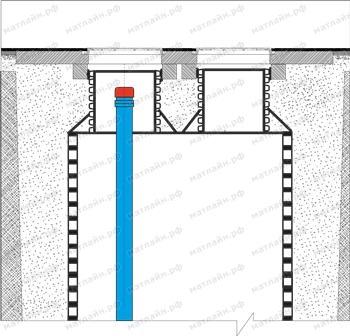 схема колодца под установку пожарного гидранта с двумя горловинами