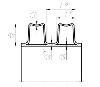Схематичное изображение стенки трубы Корсис