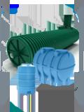резервуары пожарные и для питьевой воды, баки, емкости, в том числе для сбора ливневых вод