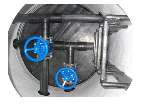 Колодец инспекционный диаметром шахты (ID) 1400 мм. так и в. трубы диаметро